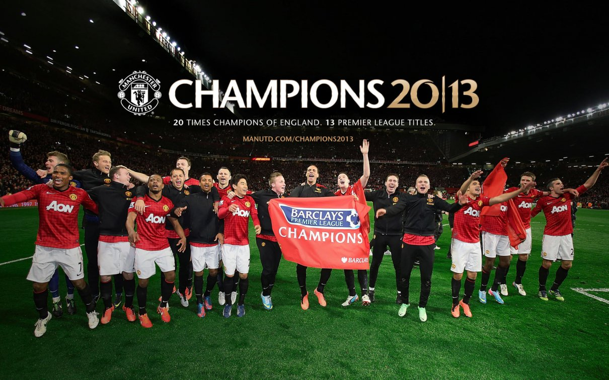 2013 Barclays Premier League Champions Manchester United