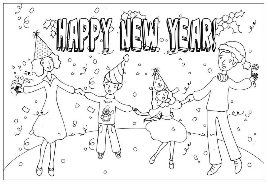 Рисунки на новый год по английскому языку