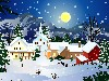 Animated Christmas Snow Town Best Wallpaper wallpaper