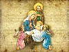 Christmas Baby Jesus Family Angels Wallpaper wallpaper